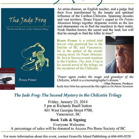 The Jade Frog Book Launch Announcement