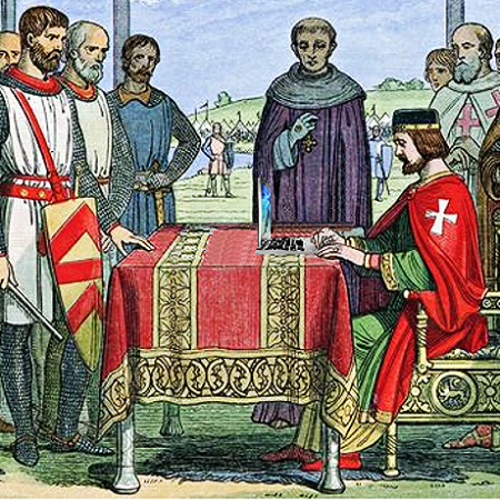 King John Posts the Magna Carta to His Facebook Wall, from an 1864 woodcut, by Mike Licht on Flickr